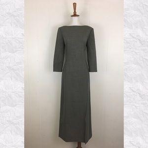 Vintage LOFT 3/4 Sleeve Midi Sheath Dress